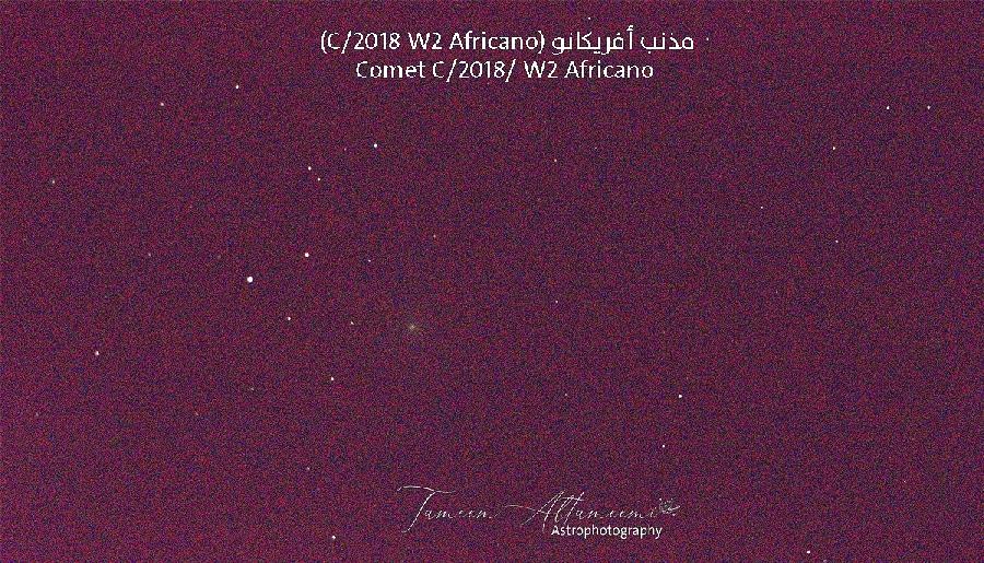 Comet C/2018 W2 africano