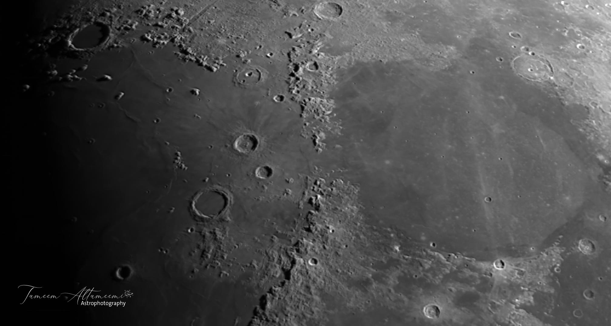 جانب من سطح القمر