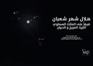 القمر في المثلث السماوي